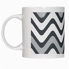 Shades Of Grey And White Wavy Lines Background Wallpaper White Mugs