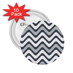 Shades Of Grey And White Wavy Lines Background Wallpaper 2 25  Buttons (10 Pack)