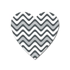 Shades Of Grey And White Wavy Lines Background Wallpaper Heart Magnet