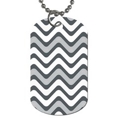 Shades Of Grey And White Wavy Lines Background Wallpaper Dog Tag (one Side)