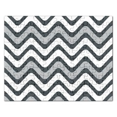 Shades Of Grey And White Wavy Lines Background Wallpaper Rectangular Jigsaw Puzzl
