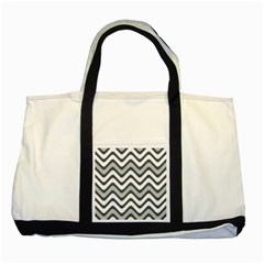Shades Of Grey And White Wavy Lines Background Wallpaper Two Tone Tote Bag