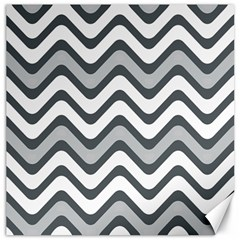 Shades Of Grey And White Wavy Lines Background Wallpaper Canvas 12  X 12