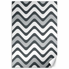 Shades Of Grey And White Wavy Lines Background Wallpaper Canvas 12  X 18