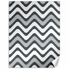 Shades Of Grey And White Wavy Lines Background Wallpaper Canvas 18  X 24