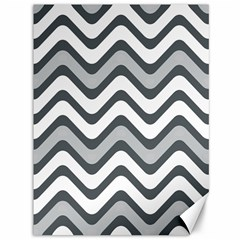Shades Of Grey And White Wavy Lines Background Wallpaper Canvas 36  X 48
