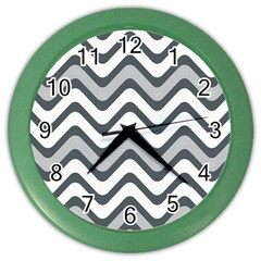 Shades Of Grey And White Wavy Lines Background Wallpaper Color Wall Clocks