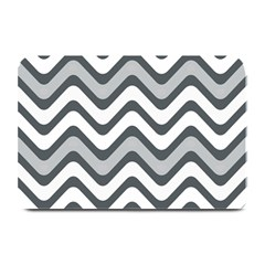 Shades Of Grey And White Wavy Lines Background Wallpaper Plate Mats