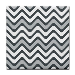 Shades Of Grey And White Wavy Lines Background Wallpaper Face Towel