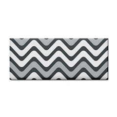 Shades Of Grey And White Wavy Lines Background Wallpaper Cosmetic Storage Cases