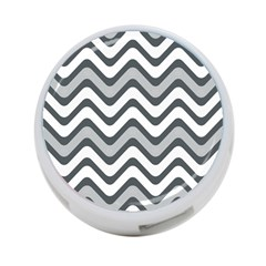 Shades Of Grey And White Wavy Lines Background Wallpaper 4 Port Usb Hub (one Side)