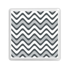 Shades Of Grey And White Wavy Lines Background Wallpaper Memory Card Reader (square)