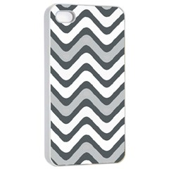 Shades Of Grey And White Wavy Lines Background Wallpaper Apple iPhone 4/4s Seamless Case (White)