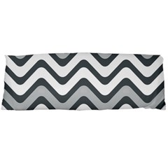 Shades Of Grey And White Wavy Lines Background Wallpaper Body Pillow Case (Dakimakura)