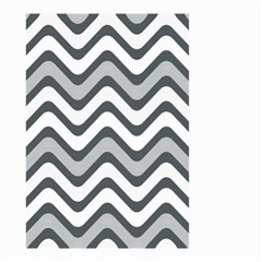 Shades Of Grey And White Wavy Lines Background Wallpaper Small Garden Flag (Two Sides)