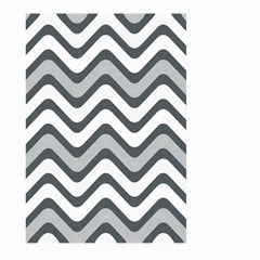 Shades Of Grey And White Wavy Lines Background Wallpaper Large Garden Flag (two Sides)