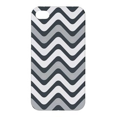 Shades Of Grey And White Wavy Lines Background Wallpaper Apple Iphone 4/4s Premium Hardshell Case