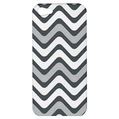 Shades Of Grey And White Wavy Lines Background Wallpaper Apple Iphone 5 Hardshell Case