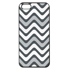 Shades Of Grey And White Wavy Lines Background Wallpaper Apple iPhone 5 Seamless Case (Black)