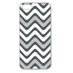 Shades Of Grey And White Wavy Lines Background Wallpaper Apple Seamless iPhone 5 Case (Clear)