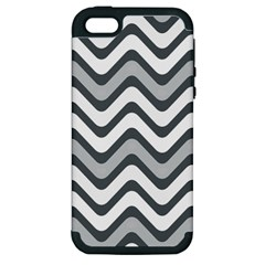 Shades Of Grey And White Wavy Lines Background Wallpaper Apple iPhone 5 Hardshell Case (PC+Silicone)