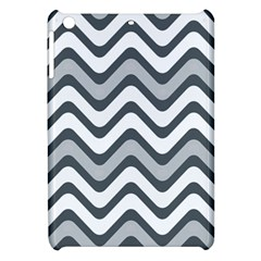Shades Of Grey And White Wavy Lines Background Wallpaper Apple iPad Mini Hardshell Case