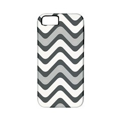 Shades Of Grey And White Wavy Lines Background Wallpaper Apple Iphone 5 Classic Hardshell Case (pc+silicone)