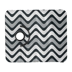 Shades Of Grey And White Wavy Lines Background Wallpaper Galaxy S3 (flip/folio)