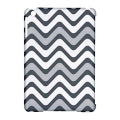 Shades Of Grey And White Wavy Lines Background Wallpaper Apple iPad Mini Hardshell Case (Compatible with Smart Cover)