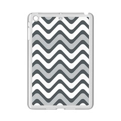 Shades Of Grey And White Wavy Lines Background Wallpaper iPad Mini 2 Enamel Coated Cases