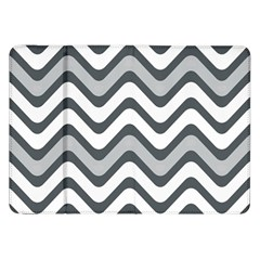 Shades Of Grey And White Wavy Lines Background Wallpaper Samsung Galaxy Tab 8 9  P7300 Flip Case
