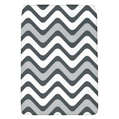 Shades Of Grey And White Wavy Lines Background Wallpaper Flap Covers (S)
