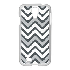 Shades Of Grey And White Wavy Lines Background Wallpaper Samsung GALAXY S4 I9500/ I9505 Case (White)