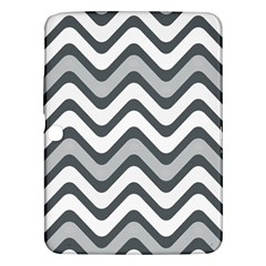 Shades Of Grey And White Wavy Lines Background Wallpaper Samsung Galaxy Tab 3 (10.1 ) P5200 Hardshell Case