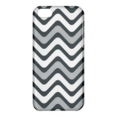 Shades Of Grey And White Wavy Lines Background Wallpaper Apple Iphone 5c Hardshell Case