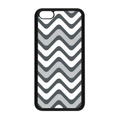 Shades Of Grey And White Wavy Lines Background Wallpaper Apple iPhone 5C Seamless Case (Black)