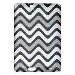 Shades Of Grey And White Wavy Lines Background Wallpaper Amazon Kindle Fire HD (2013) Hardshell Case