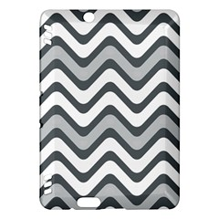 Shades Of Grey And White Wavy Lines Background Wallpaper Kindle Fire HDX Hardshell Case