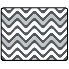 Shades Of Grey And White Wavy Lines Background Wallpaper Double Sided Fleece Blanket (Medium)