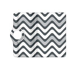 Shades Of Grey And White Wavy Lines Background Wallpaper Kindle Fire HDX 8.9  Flip 360 Case