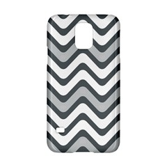 Shades Of Grey And White Wavy Lines Background Wallpaper Samsung Galaxy S5 Hardshell Case