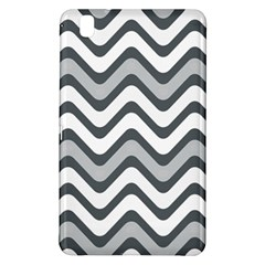 Shades Of Grey And White Wavy Lines Background Wallpaper Samsung Galaxy Tab Pro 8.4 Hardshell Case