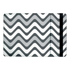 Shades Of Grey And White Wavy Lines Background Wallpaper Samsung Galaxy Tab Pro 10.1  Flip Case
