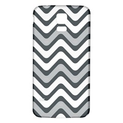 Shades Of Grey And White Wavy Lines Background Wallpaper Samsung Galaxy S5 Back Case (White)