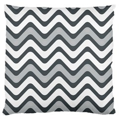 Shades Of Grey And White Wavy Lines Background Wallpaper Standard Flano Cushion Case (One Side)