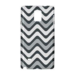 Shades Of Grey And White Wavy Lines Background Wallpaper Samsung Galaxy Note 4 Hardshell Case