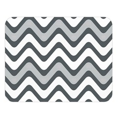 Shades Of Grey And White Wavy Lines Background Wallpaper Double Sided Flano Blanket (large)