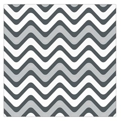 Shades Of Grey And White Wavy Lines Background Wallpaper Large Satin Scarf (Square)