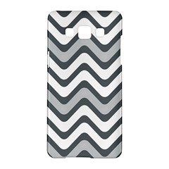 Shades Of Grey And White Wavy Lines Background Wallpaper Samsung Galaxy A5 Hardshell Case