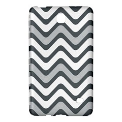 Shades Of Grey And White Wavy Lines Background Wallpaper Samsung Galaxy Tab 4 (8 ) Hardshell Case